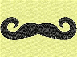 Curly Mustache embroidery design