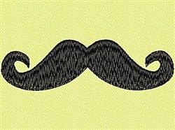 Mustache embroidery design