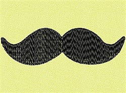 Thick Mustache embroidery design