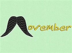 Happy Movember! embroidery design
