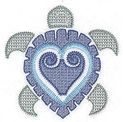 Jacobean Sea Turtle embroidery design