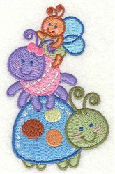 Adorable Bugs embroidery design