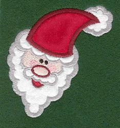 Santa Head Applique embroidery design