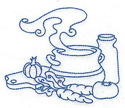 Soup Bowl With Vegetables embroidery design
