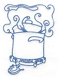 Pot On Stove embroidery design