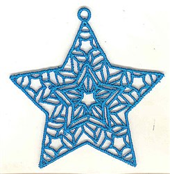 FSL Star Decoration embroidery design