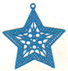 FSL Blue Star Decoration embroidery design