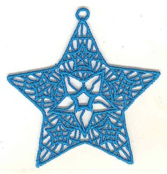 FSL Star Ornament embroidery design