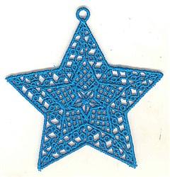 FSL Blue Star Ornament embroidery design