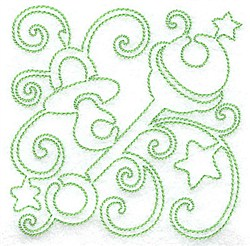 Pacifier & Rattle Redwork embroidery design