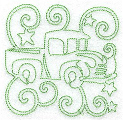 Toy Truck Redwork embroidery design