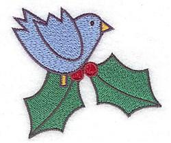 Bluebird Holly embroidery design