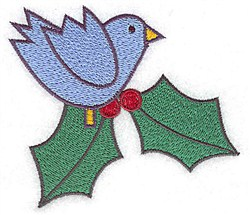 Bluebird Holly embroidery design