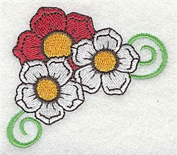 Flower Swirl embroidery design