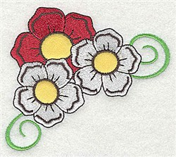 Applique Flowers embroidery design