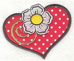 Applique Heart embroidery design