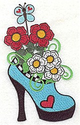 Butterfly Shoe embroidery design