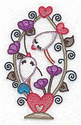 Birds In Love embroidery design