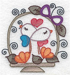 Valentine Basket embroidery design