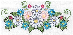 Daisy Bouquet embroidery design