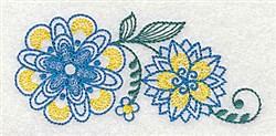 Elegant Floral Border embroidery design