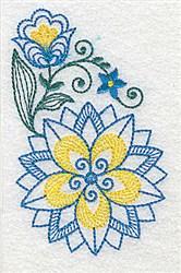 Elegant Floral Corner embroidery design