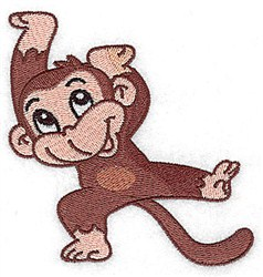 Silly Monkey embroidery design