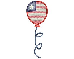 4th of July Balloon embroidery design