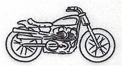 Motorcycle Outline embroidery design