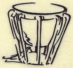 Kettle Drum embroidery design