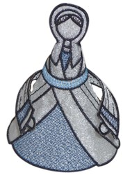 Mary head and body embroidery design