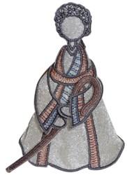 Shepherd boy arms embroidery design