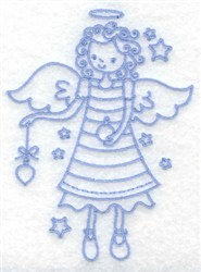 Angel With Ornament embroidery design