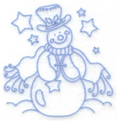 Snowman With Vest embroidery design