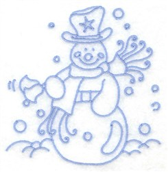 Snowman Ringing Bells embroidery design