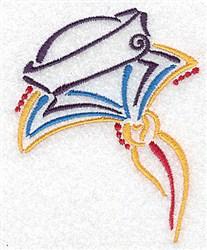Sailors Cap & Collar embroidery design
