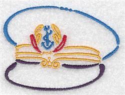 Captains Hat embroidery design
