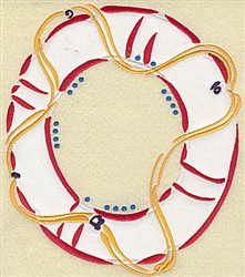 Lifebuoy applique embroidery design
