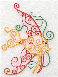 Swirly Fish embroidery design