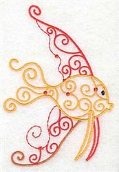 Swimming Fish embroidery design
