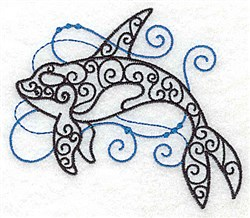 Whale Of Swirls embroidery design