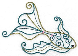 Swimming Fish embroidery design