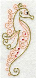Elegant Seahorse embroidery design