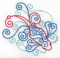 Swirly Koi embroidery design