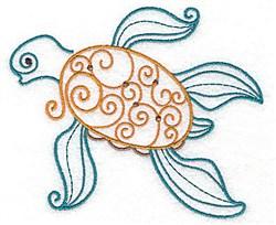 Sea Turtle Swirls embroidery design