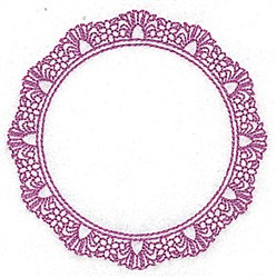 Circular Frame embroidery design