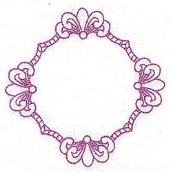 Fleur De Lys Frame embroidery design