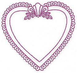Heart Shaped Frame embroidery design