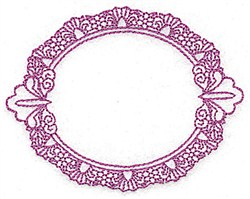 Oval Fame embroidery design