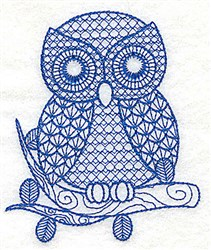 Jacobean Owl embroidery design